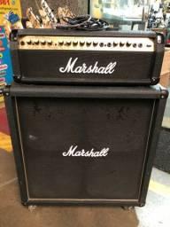 Kit Amplificador + caixa Marshall para guitarra