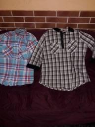 Camisas femininas xadrez M