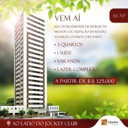 Lançamento 3 quartos Madalena-Prado,Ao lado do Jockey-mensais de R$ 850