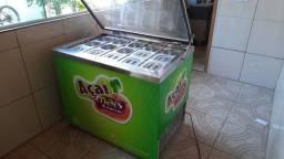 Vendo freezer com cubas inox para goloseimas
