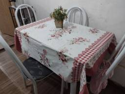 Mesa mármore,4 cadeiras..
