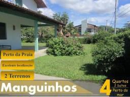 Casa em Manguinhos - Amplo quintal pertinho do Mar!