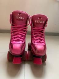 Patins Fênix 4 rodas rosa