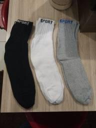 Kit 3 pares de meias