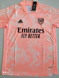 Camisa Arsenal Training Suit Rosa Adidas 20/21 - Tamanho: G