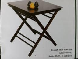 Mesa c/4 Cadeiras Madeira 70x70 - Direto da Fabrica P/Todo o Brasil