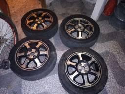 Rodas liga leve com pneus