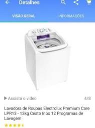 Máquina de lavar roupa Electrolux 13 kg cesto de inox