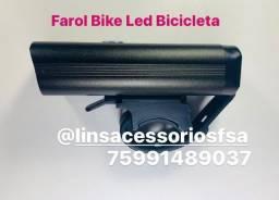 Farol Bike Led Bicicleta Dianteira Recarregável  Muito Forte
