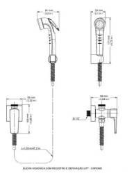 Ducha Higiênica Com Registro E Derivação Docol Lift - 3 Unid