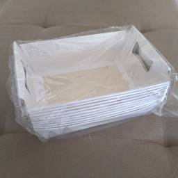 Cesta de papel branca (10 unidades)