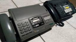 vendo 2 aparelhos de fax por 100 - funcionando - posso entregar