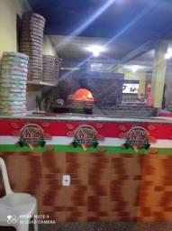 Pizzaria forno a lenha completa
