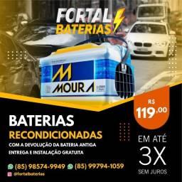 Título do anúncio: Bateria 60Ah Moura do Escort, Corsa e Verona Bateria Original Moura