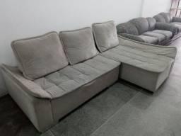 Sofa com chaise reclinavel