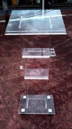 Púlpito em acrílico cristal 6mm com Gazofilácio