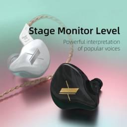 Fone KZ alta qualidade in ear DJ retorno monitor de palco, músicos, games 23 ohms