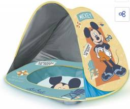 Piscina Infantil De Praia C/ Cobertura Uv Mickey- Zippy Toys