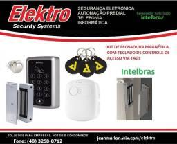 KIT de Controle de Acesso c/Trava Eletroimã - Intelbras - Empresas e Condominios