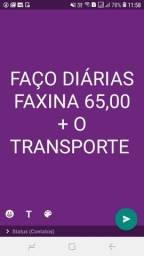 FAÇO DIÁRIAS FAXINA 65,00