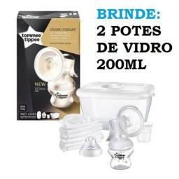 Kit Bomba Extratora Manual Tira Leite Tommee Tippee + Brinde 2 Vidros
