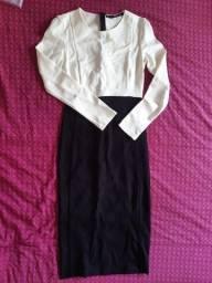 Vestido manga longa Zara