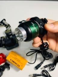 Farol Bike Profissional Lanterna Cabeça ou Guidão Led T6 Tatica Usb