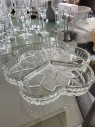 Petisqueira 3 divisoris de vidro em estado de nova!