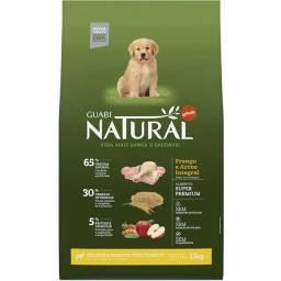 Ração Guabi Natural Frango e Arroz Integral para Cães Filhotes Raças Grande e Gigante 15kg