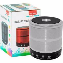 Mini Caixinha Som Ws-887 Bluetooth Portátil Usb Mp3 P2 Sd Rádio