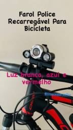 Promoção Farol Police Led Auto Brilho Bike Ecooda EC-6088