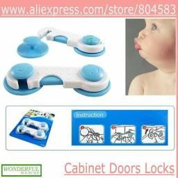 5x Trava de segurança para bebe portas e gavetas - Realengo