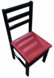 Cadeira de Madeira com assento estofado - REF 208 para hamburgueria