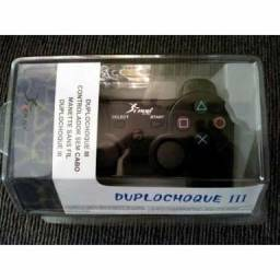 Controle PlayStation 3 duplo shock knup cabo