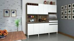 Cozinha Compacta Ronipa Malbec com Nicho Adega
