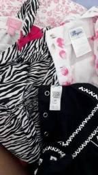 Lote de roupa bebê menina Veste ( RN ao 6)