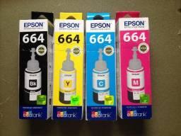 Refil Epson 664 original todas as cores