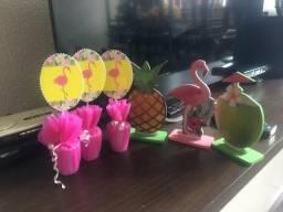 Kit para festa flamingo