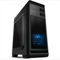 Gabinete NOX MODUS ATX, USB 3.0,FAN AZUL 12OMM Incluso, Janela Lateral Transparente