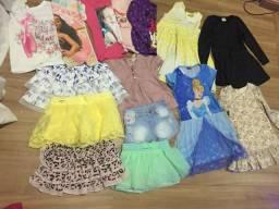 Lote de roupas infantis TAM 3/4 anos