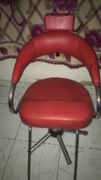 Lavatório e cadeira para salão