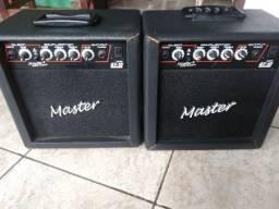 Áudio e amplificador Master gt 15
