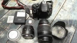 Corpo Canon Rebel T4i - EOS 650D + lentes e acessórios