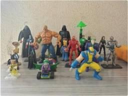 Lote 19 action figures bonecos dc star wars marvel simpsons 1866e2ff7cc