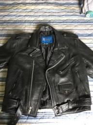 Jaqueta de couro motoqueiro/roqueiro