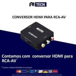Mini Adaptador Conversor De Hdmi Para Rca/ Av- promoção de quarentena