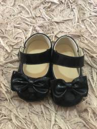 Sapato bebê preto