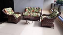 Conjunto de sofá berlim em fibra sintética
