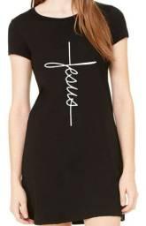 Vestido feminino Cruz Jesus Cristo