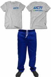 Kit de 10 Conjuntos de Calça de Brim e Camiseta
